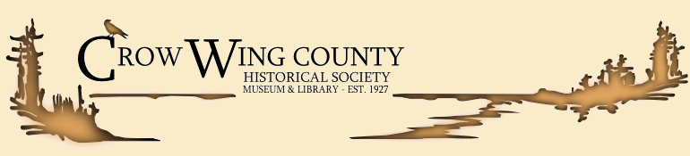 Crow Wing County Historical Society (webpage header)