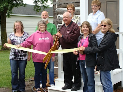 Carbine House Restoration Ribbon Cutting June 2014 Photo