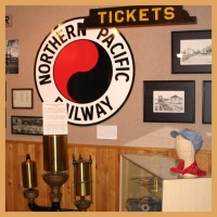 Railroad exhibit, second floor.