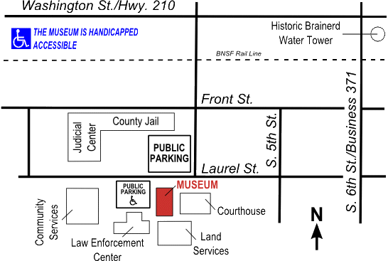 The museum is located at 320 Laurel St. Brainerd, MN 56401.